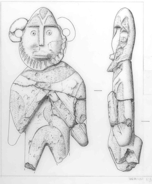 NMS-F92EB4: Alabaster figure of a knight: Medieval