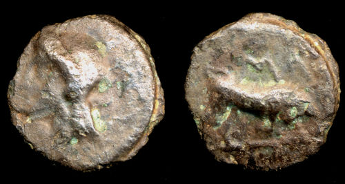 FASA-6E0E46: Potin coin of the Thurrock type