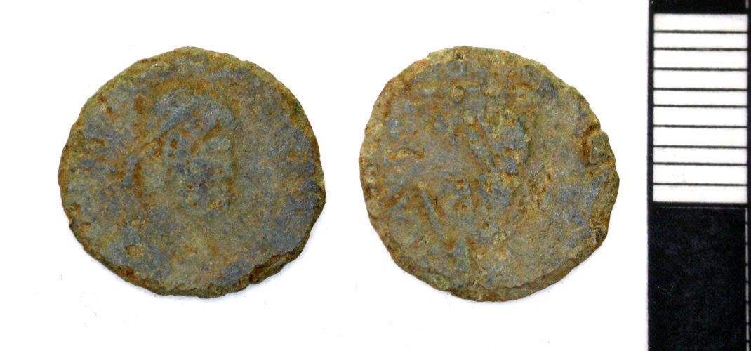 PAS-1A6014: Water Newton : Roman : A nummus of the House of Valentinian