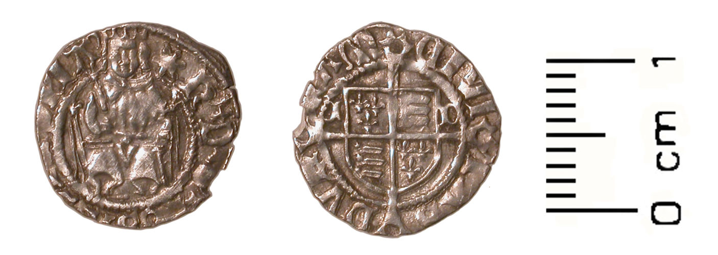WMID-6ADAE3: Post medieval coin: Penny of Henry VIII (obverse, reverse)