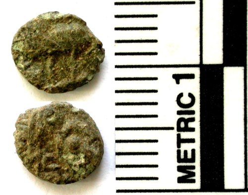 A resized image of Roman coin: barbarous radiate