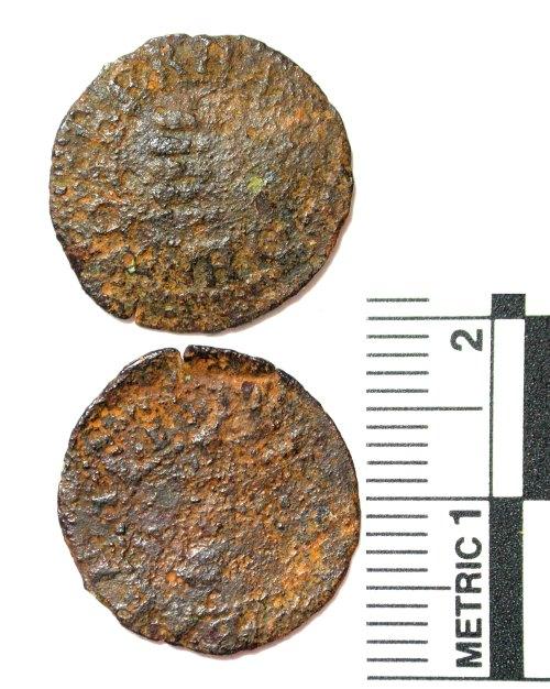 BUC-715DEA: Post-medieval trade token farthing of John Rotherham of Barnet, Hertfordshire