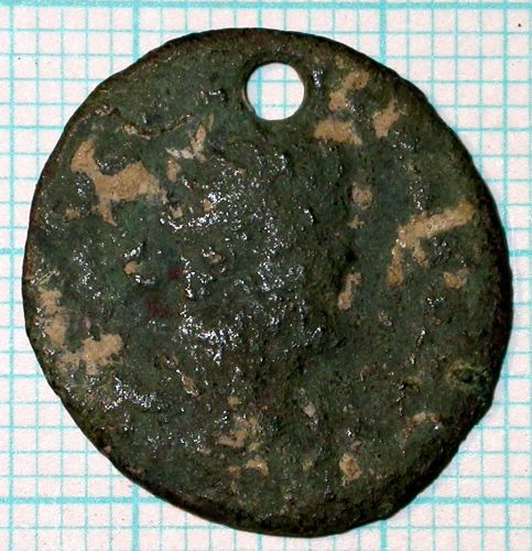 SUR-E60FB1: 04/462 Nummus of ?Allectus, obv