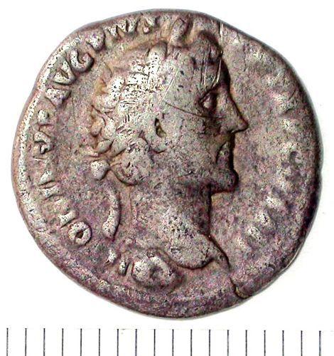 SUR-B4C9A4: Denarius of Antoninus Pius (obv)