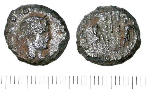 SUR-B98F01: Roman nummus of the House of Constantine