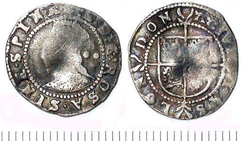 SUR-B43622: Halfgroat of Elizabeth I