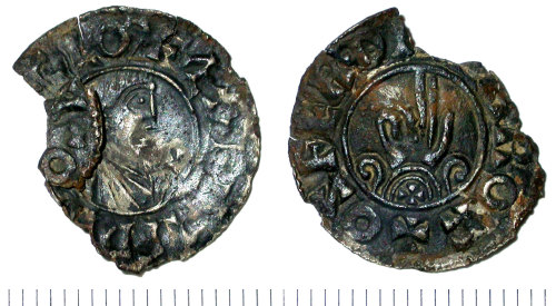SUR-00CDD2: Early Medieval coin: Penny of Aethelred II, Benediction issue