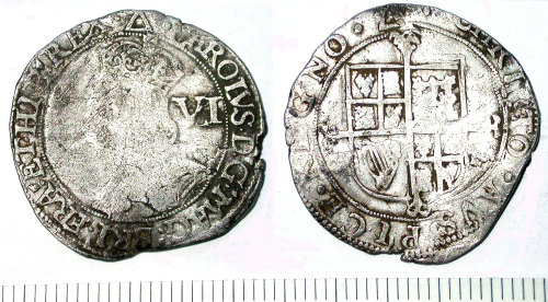 SUR-47C4E3: Sixpence of Charles I