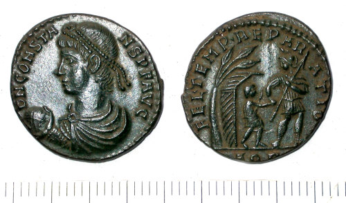 SUR-DBDD57: Roman: Nummus of Constans