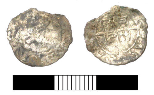 SUR-D360D2: Post medieval coin: Posthumous penny of Henry VIII