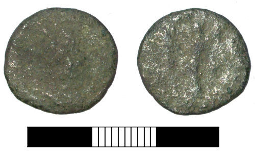 SUR-221A11: Roman coin: Radiate of Gallienus or Valerian