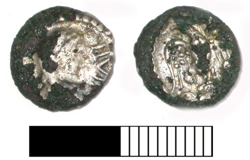 SUR-52CD96: Iron Age coin: Unit of Epaticcus