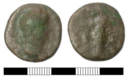 SUR-BD3CE1: Roman coin: Dupondius or as of Hadrian