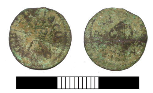 SUR-D75E26: Post medieval coin: Farthing of James I