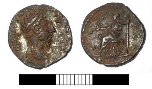 SUR-D88D85: Roman coin: Denarius of Septimius Severus