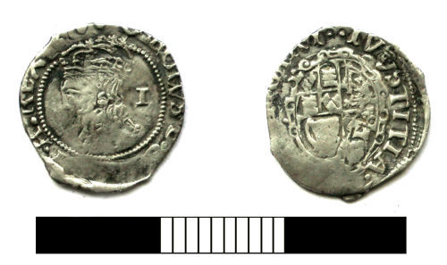 SUR-581D58: Post medieval coin: Penny of Charles I