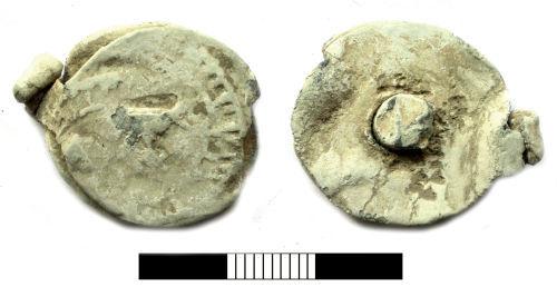 SUR-583AA5: Post medieval: Cloth seal