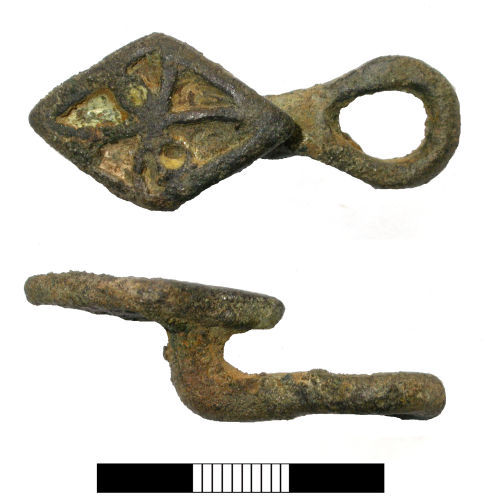A resized image of Iron Age to Roman: Button and loop fastener.