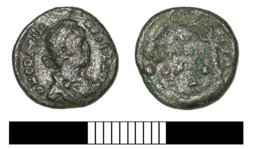 SUR-DCACB3: Roman coin: Nummus of Constantius II
