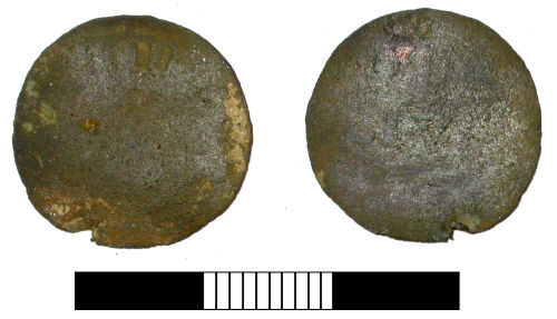 SUR-6AB065: Post medieval coin: Dutch duit