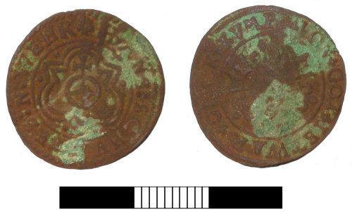 SUR-3C85A4: Post medieval: Jetton