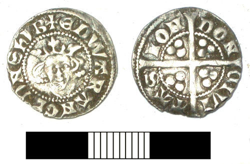 SUR-9838B1: Medieval coin: Penny of Edward I