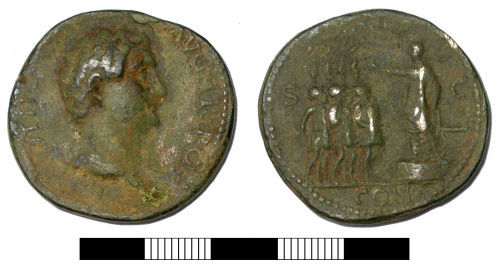 SUR-914382: Roman coin: A modern forgery of a 'sestertius' of Otho