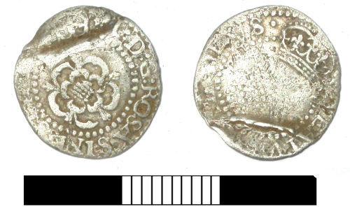 SUR-914E13: Post medieval coin: Halfgroat of James I