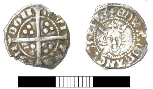 SUR-915FB2: Medieval coin: Penny of Edward I