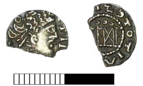 SUR-2CF753: Early medieval coin: Sceat