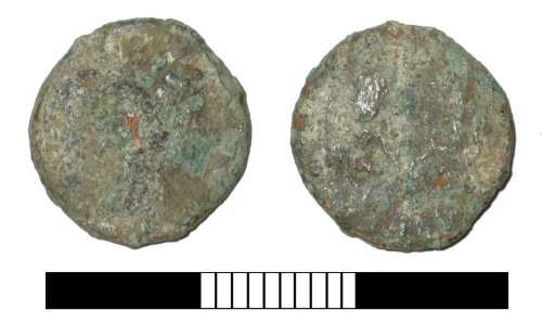 SUR-2F3ED2: Roman coin: Nummus of the House of Constantine