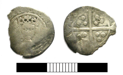 SUR-27C326: Medieval coin: Penny of Henry VI
