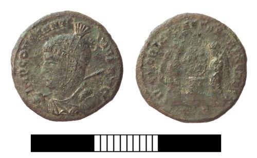 SUR-2F1661: Roman coin: Nummus of Constantine I
