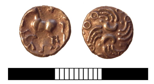 A resized image of Iron Age coin: Quarter stater
