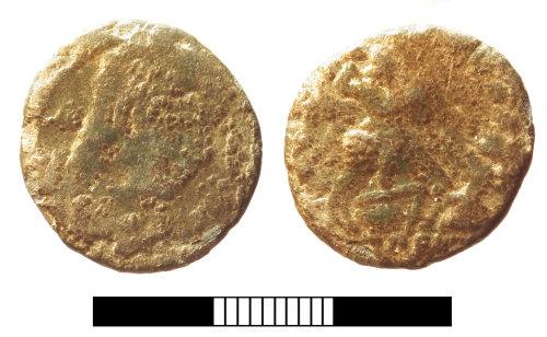 SUR-DDAE69: Roman coin: Nummus of Magnentius or Decentius