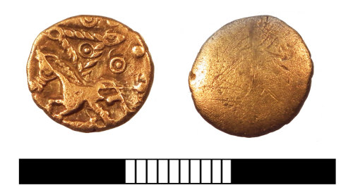 SUR-BC0D8C: Iron Age Coin: Quarter stater of southestern LZ type