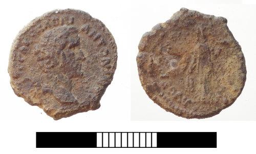 SUR-400FC1: Roman coin: Denarius of Antoninus Pius