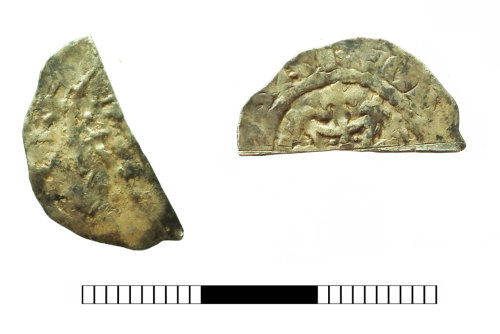 SUR-95A517: Medieval coin: Cut Halfpenny of Henry I