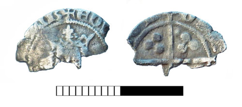 SUR-17AB06: Medieval coin: Penny of Edward III
