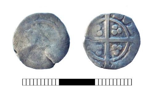 SUR-18CDFD: Medieval coin: Penny of Edward III