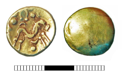 SUR-04E8A9: Iron Age coin: Stater of the Ambiani