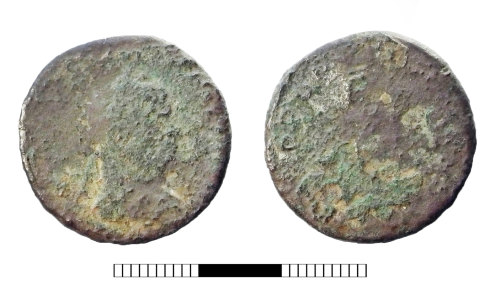 SUR-3BFB3C: Roman coin: Nummus