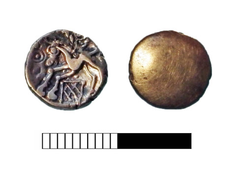 SUR-6F8EA2: Iron Age: Quarter stater of the Cantii