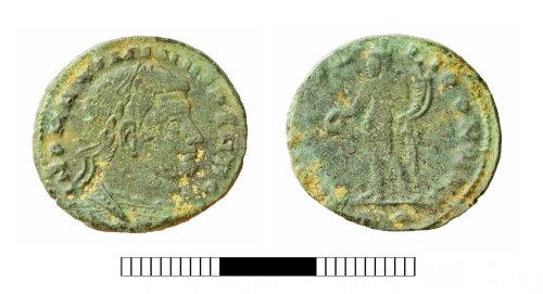 SUR-70F739: Roman coin: Nummus of Maximinus