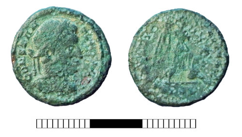 SUR-C1F9FE: Roman coin: Nummus of Constantine I