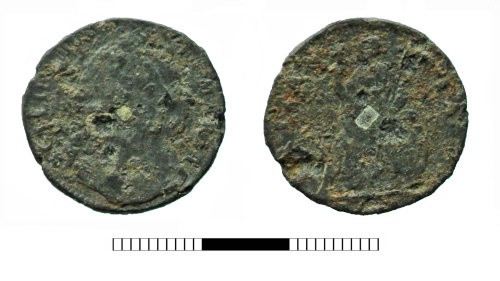 SUR-ECD0D2: Post medieval coin: Farthing of William and Mary