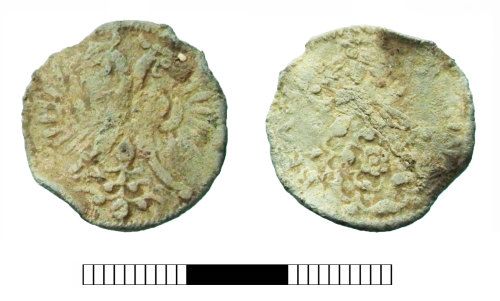 A resized image of Post medieval: Lead token of Elizabeth I