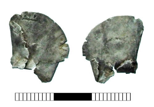 SUR-F0A06C: Post medieval coin: Groat of Edward VI