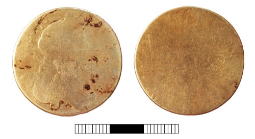 SUR-7D772E: Post medieval coin: Halfcrown of Charles II