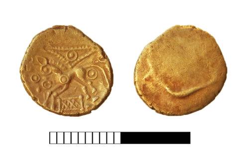 SUR-EECB46: Iron Age coin: Quarter stater